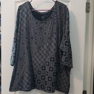 3/4 sleeve t-shirt Catherines 3x